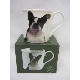 New Lesser And Pavey Fine China Mug Beaker Coffee Tea Cup French Bulldog