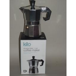 New Kilo Italian Stovetop Express Espresso Coffee Maker 1 Cup C14