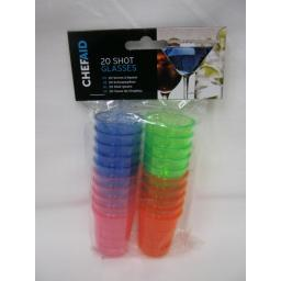 New Chef Aid Plastic Shot Glasses Pk2010E14873