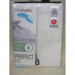 New Brabantia Cotton Ironing Board Cover B 124cm x 38cm Blue Feather Pattern