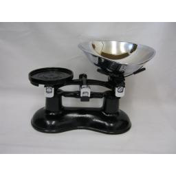 New Victor Traditional Kitchen Weighing Scales Black Chrome Pan Slight Damaged