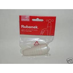 New Croydex Rubanek Anti Splash Rubber Tap Swirl Push On