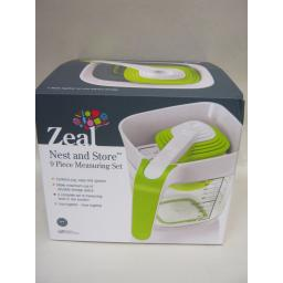 New Zeal Nest And Store 9 Piece Measuring Mixing Jug Cup Set L207
