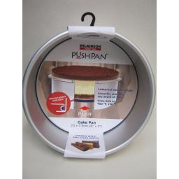 New Wilkinson Aluminium Push Pan Round Cake Tin 20cm 8inch 02008