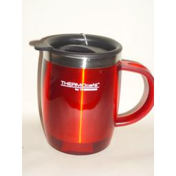 New Thermos Thermocafe Desk Travel Mug Beaker Cup 0.45L Red