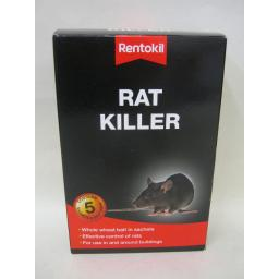 New Rentokil Rat Killer Whole Wheat Bait Poison 5x 100g = 500g Bait Trays Inc