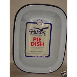 New Falcon White Enamel Oblong Pie Baking Dish Tin 28cm
