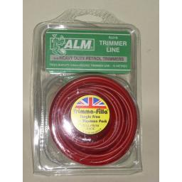 New ALM Heavy Duty Petrol Trimmer Line Red 3.00mm 15 Metres SL018