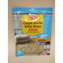 New Zero In Carpet Beetle Killer Strips Odour Free Lasts Up To 6 Months Pk20