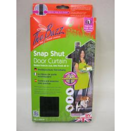 New Stv The Buzz Magnetic Snap Shut Door Curtain Insect Control 100cm x 220cm