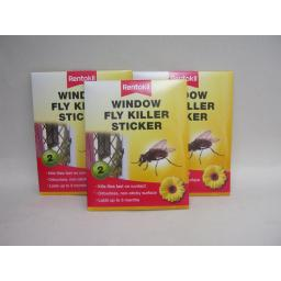 New Rentokil Fly Trap Killer Window Sticker Kills Flies On Contact 3pks of 2