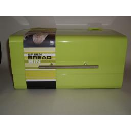 New Zeal Metal Retro Style Bread Bin Lime Green G123L