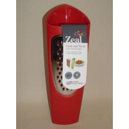 New Zeal Tower Cheese Grater Grate And Serve Red H28