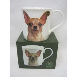 New Lesser And Pavey Fine China Mug Beaker Coffee Tea Cup Chihuahua LP92588