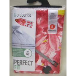 New Brabantia Cotton Ironing Board Cover B 124cm x 38cm Pink Santini Pattern