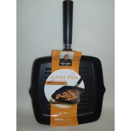 New Ken Hom Non Stick Frying Pan Square Grill Cast Aluminium 25cm