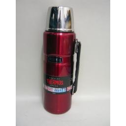 New Thermos Stainless Steel King Flask 1.2 Litre Red Keeps Hot 24 Hours