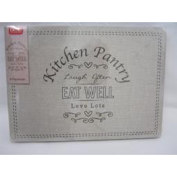 New DMD Place Mats Pk4 29cm x 21cm Kitchen Pantry Design 7877