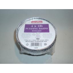 New Caroline Foil Pudding Bowl Basin And Lid 1LB Pack of 4
