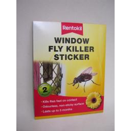 New Rentokil Fly Trap Killer Window Sticker Kills Flies On Contact Pk2