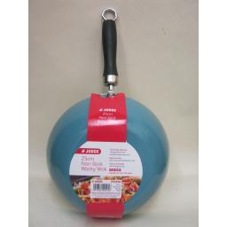 New Judge Mini Wacky Wok Stir Fry Non Stick Black Handle 25cm 10in Aqua PP259D