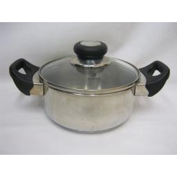 Used Vista Stainless Steel Casserole With Lid 16cm Very Good Condition 1L