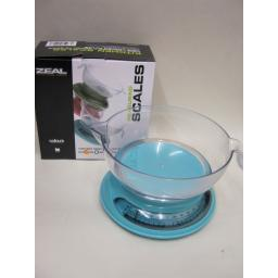 New Cks Zeal Kitchen Cooks Compact Measuring Scales Aqua Blue N167