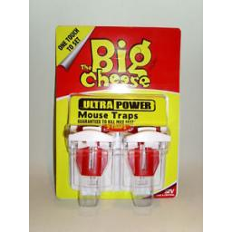 New The Big Cheese Stv Ultra Power Mouse Trap Ready To Use Baited Pk2 STV148