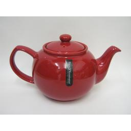 New Price And Kensington Pot Teapot 6 Cup Tea Pot 0056.760 Red