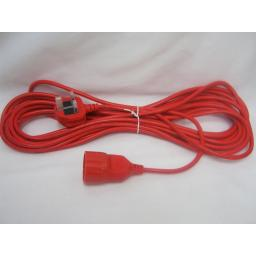 New ALM Lawnmower Mains Cable Lead Red To Fit Qualcast Sovereign Challenge QT069