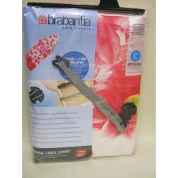 New Brabantia Cotton Ironing Board Cover C 124 x 45 Pink Flower