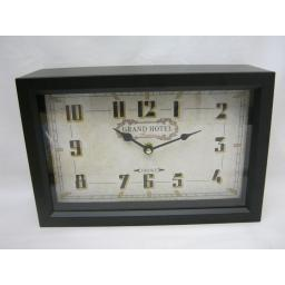 New Mantel Clock Grand Hotel Black Metal MHH25
