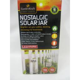 New GardenKraft Nostalgic Solar Jar LED Hanging Light With Chain And Hook 24420