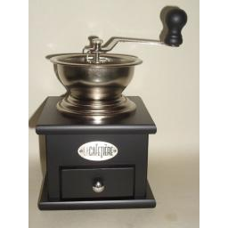 New La Cafetiere Classic Coffee Mill Grinder Black CM001400