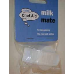 New Chef Aid Milk Mate Bottle Top Cover Cap Lid White