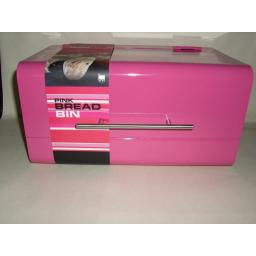 New Zeal Metal Retro Style Bread Bin Pink G123F