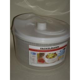 New Fackelmann White Plastic Large Salad Lettuce And Herb Spinner