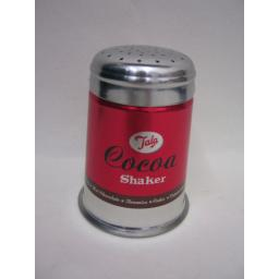 New Tala Metal Cocoa Flour Icing Sugar Chocolate Shaker Sprinkler Red