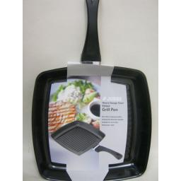 New Judge Non Stick Frying Pan Square Ribbed Grill Heavy Gauge Steel 29cm PP04