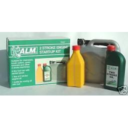 New ALM 2 Stroke 1ltr Oil, Petrol Can, Mixing Bottle Start Up Kit TS002
