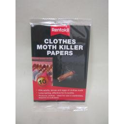 New Rentokil Clothes Moth Killer Strips Papers Pk10