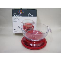 New Cks Zeal Kitchen Cooks Compact Measuring Scales Red N167