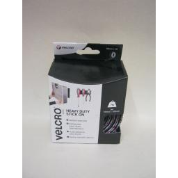 New Velcro Heavy Duty Stick On Tape 50mm x 1m Black 60241