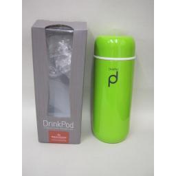 New Grunwerg Stainless Steel Vacuum Flask Drink Pod 0.20L Lime Green