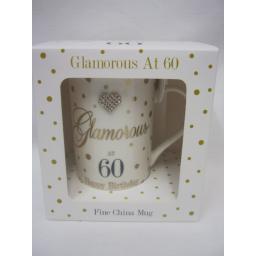 New Lesser And Pavey Fine China Mug Coffee Tea Diamante Glamorous At 60 LP33702