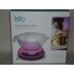 New Kilo Cks Kitchen Cooks Compact Measuring Scales Pink N164