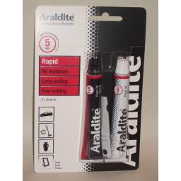 New Araldite Rapid Super Strong Adhesive Glue 2 x 15ml Tubes Red