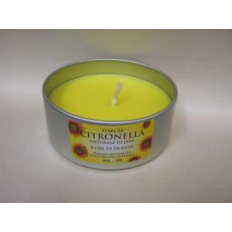 New Citronella Candles Fragranced Tea Light In A Tin Unlidded