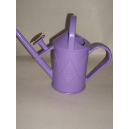 New Haws Heritage Indoor Plastic Watering Can Brass Rose 1 Litre Lilac