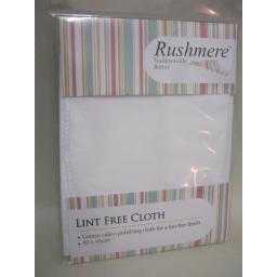 New Rushmere Lint Free Cloth White Cotton Calico 30cm x 45cm